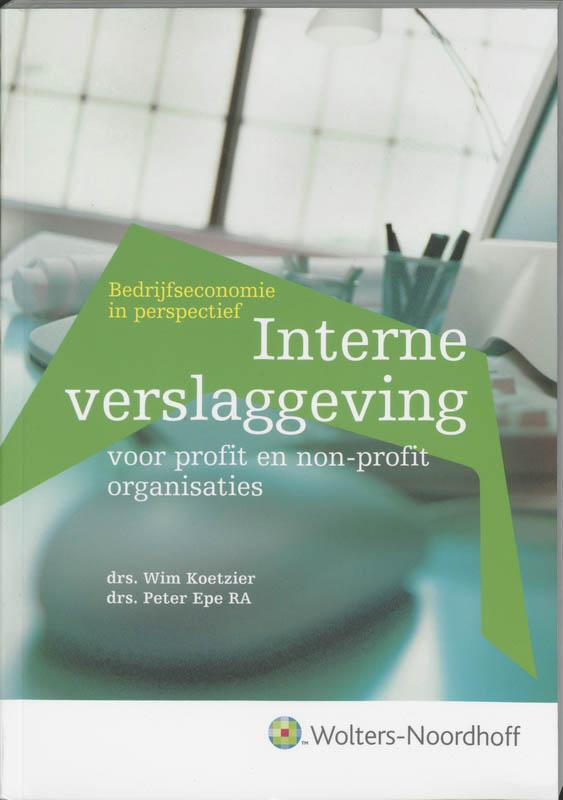 Interne verslaggeving voor profit en non-profit organisaties