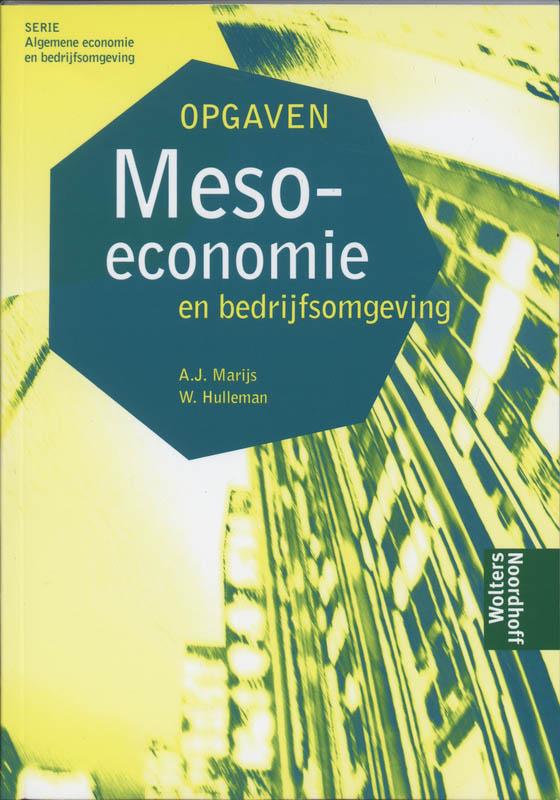 Meso economie en bedrijfsomgeving opgaven