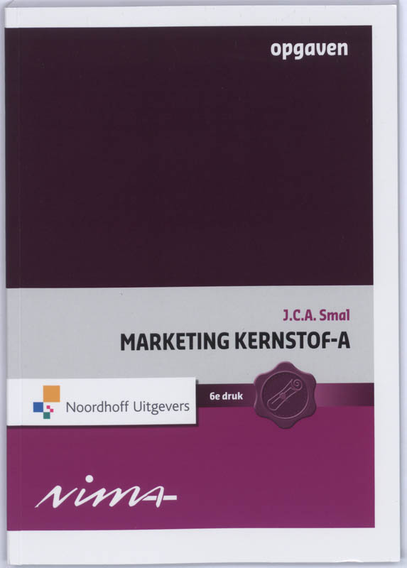 Marketing Kernstof A Opgaven