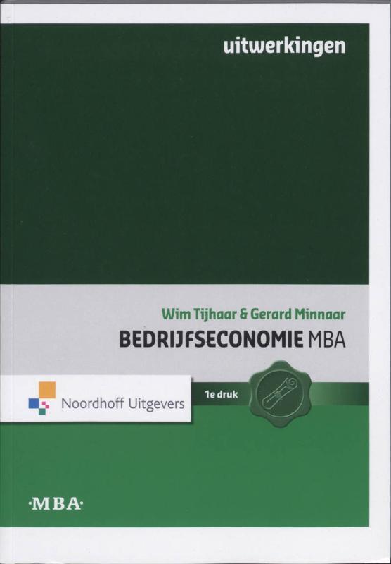 Bedrijfseconomie MBA Uitwerkingen